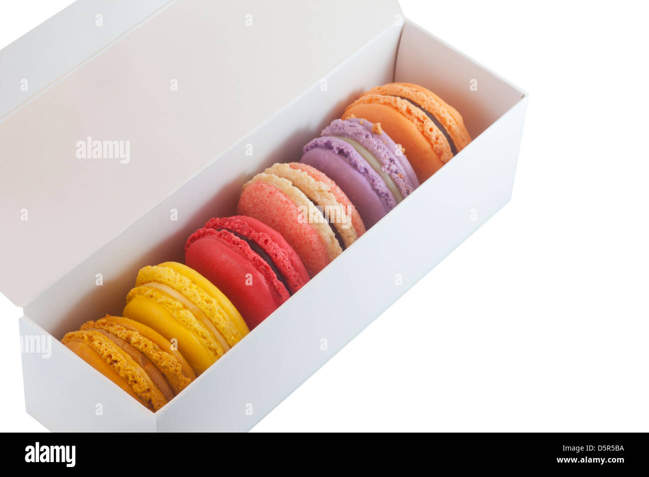 Gift box of macarons - Stock Image