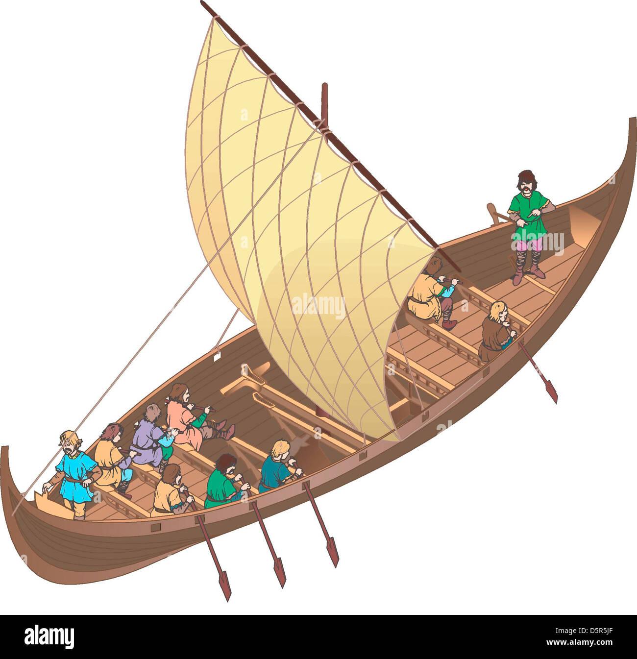 Viking boat - Stock Image