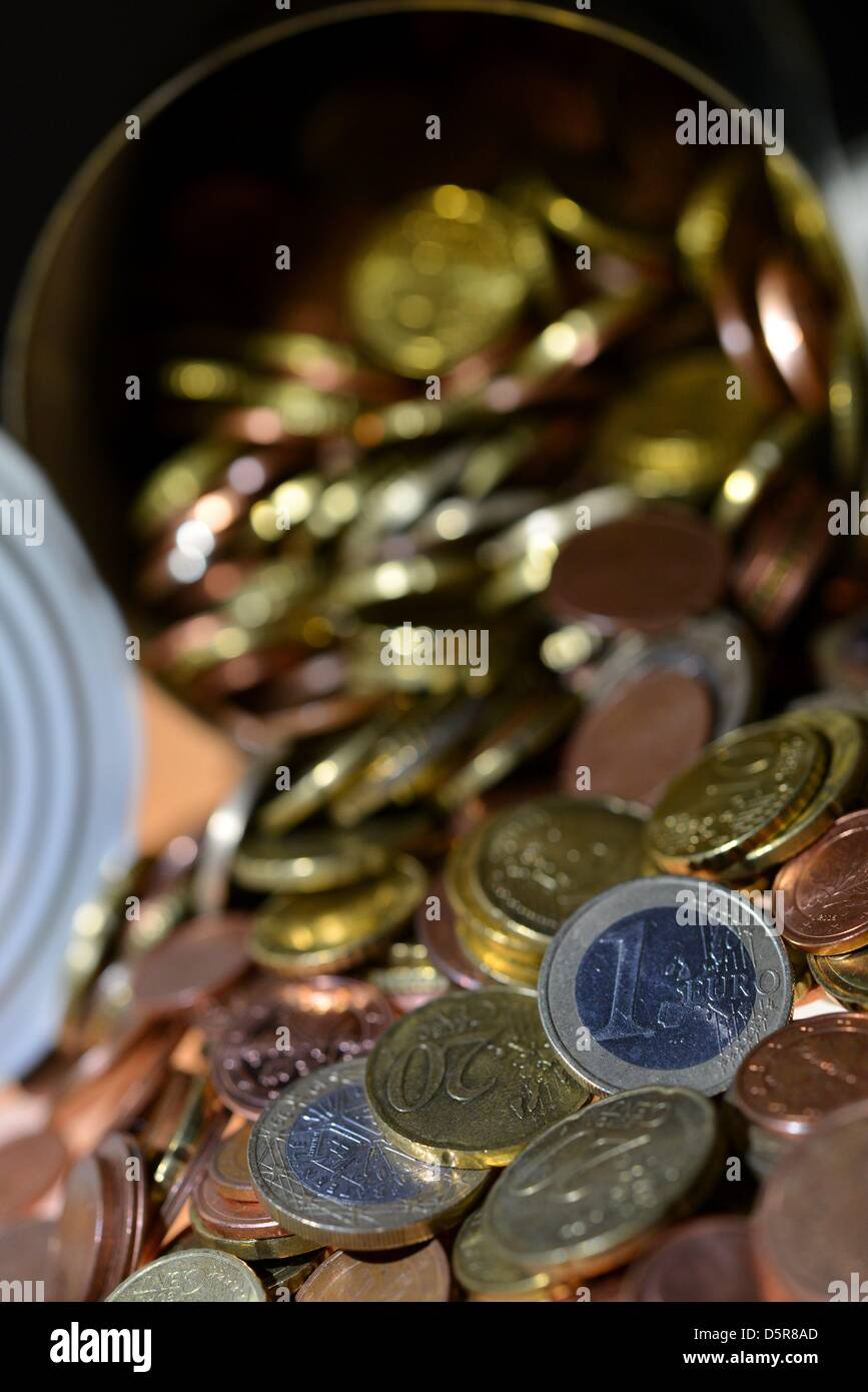 Coins of euro money. Photo: Frank May - Stock Image