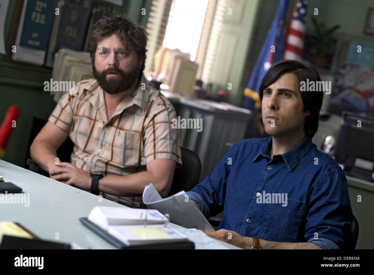 Zach Galifianakis Jason Schwartzman Bored To Death 2009 Stock Photo Alamy