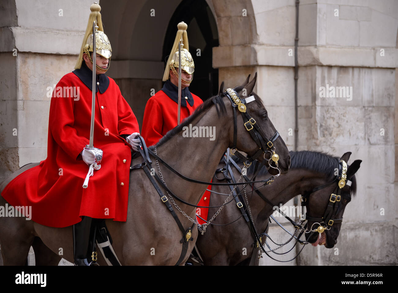 Lifeguards of the Queens Household Cavalry Stock Photo