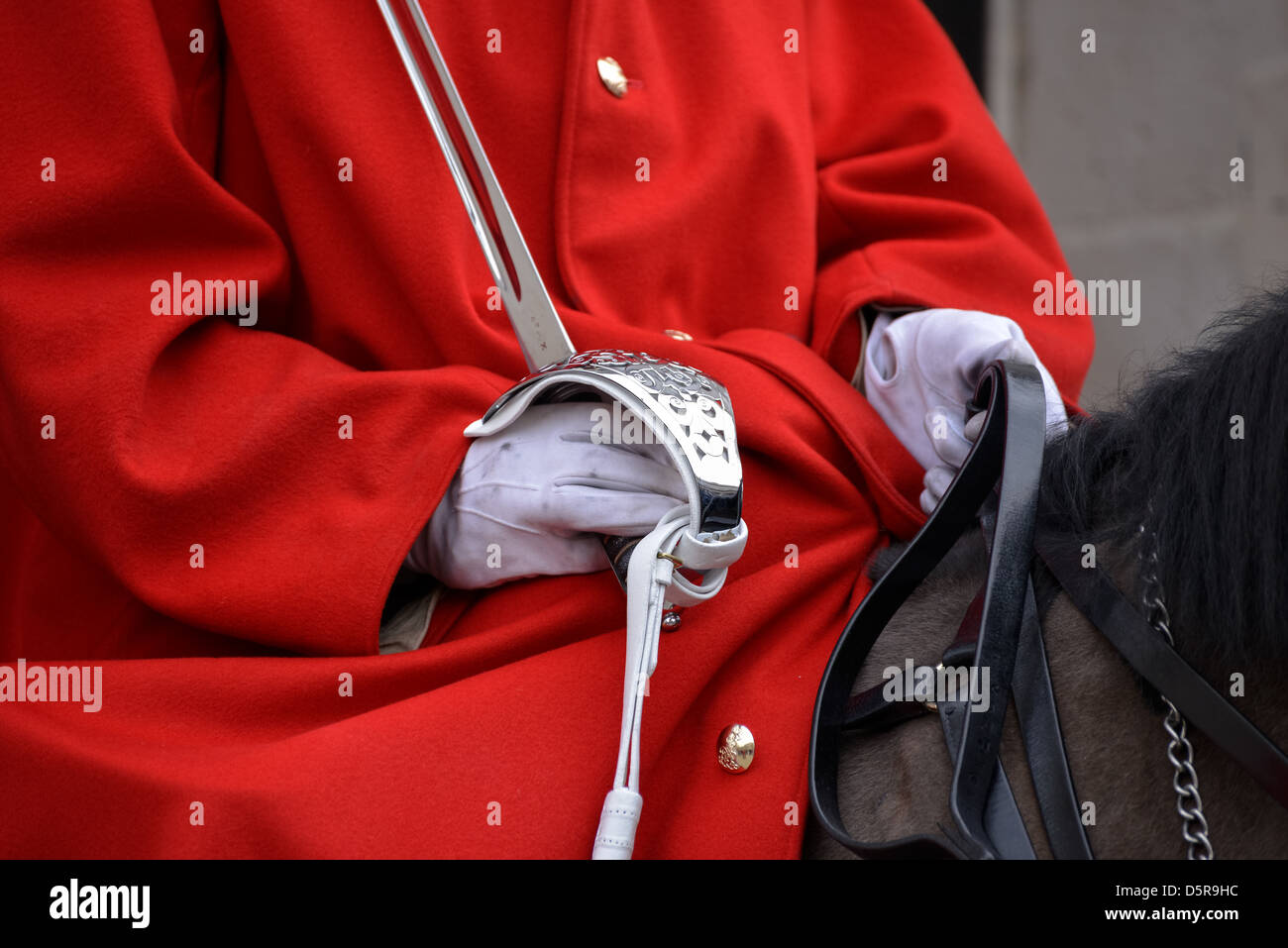 Lifeguard of the Queens Household Cavalry Stock Photo