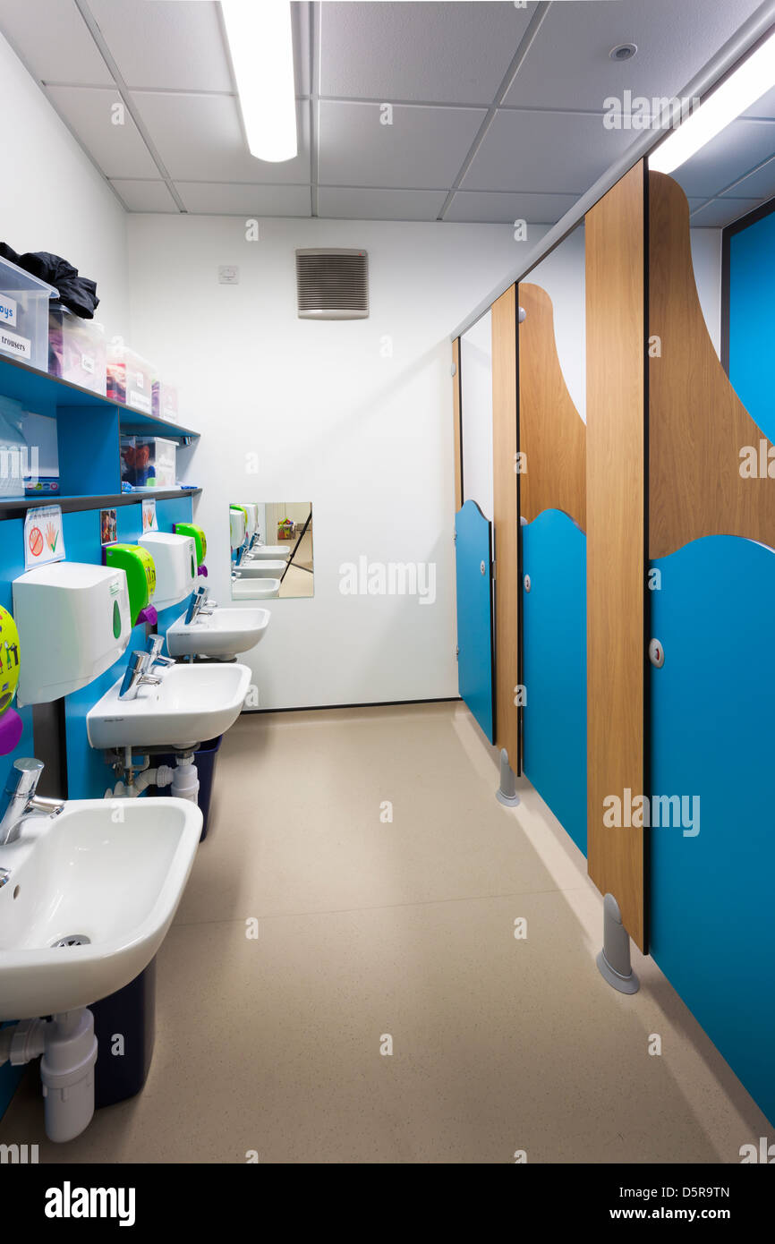 childrens toilets at Coley Primary School, Reading - Stock Image