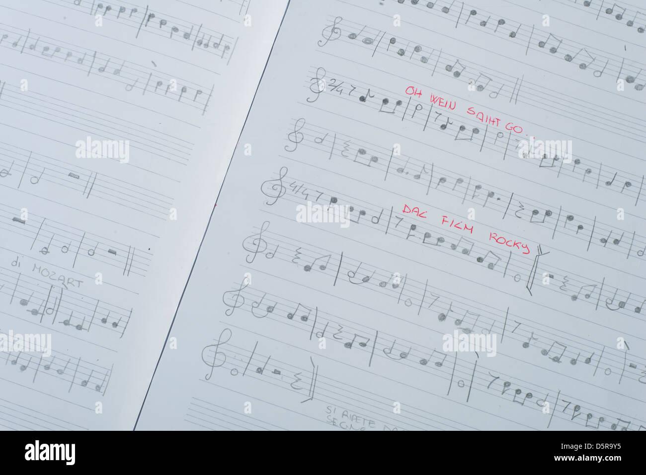 Write Sheet Music Stock Photos & Write Sheet Music Stock Images - Alamy