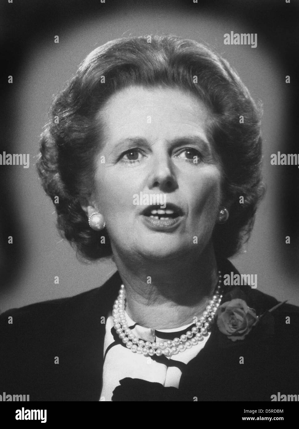 Archive: Lady Margaret Thatcher died today 8th April, 2013. This picture was taken in the '80's when she - Stock Image