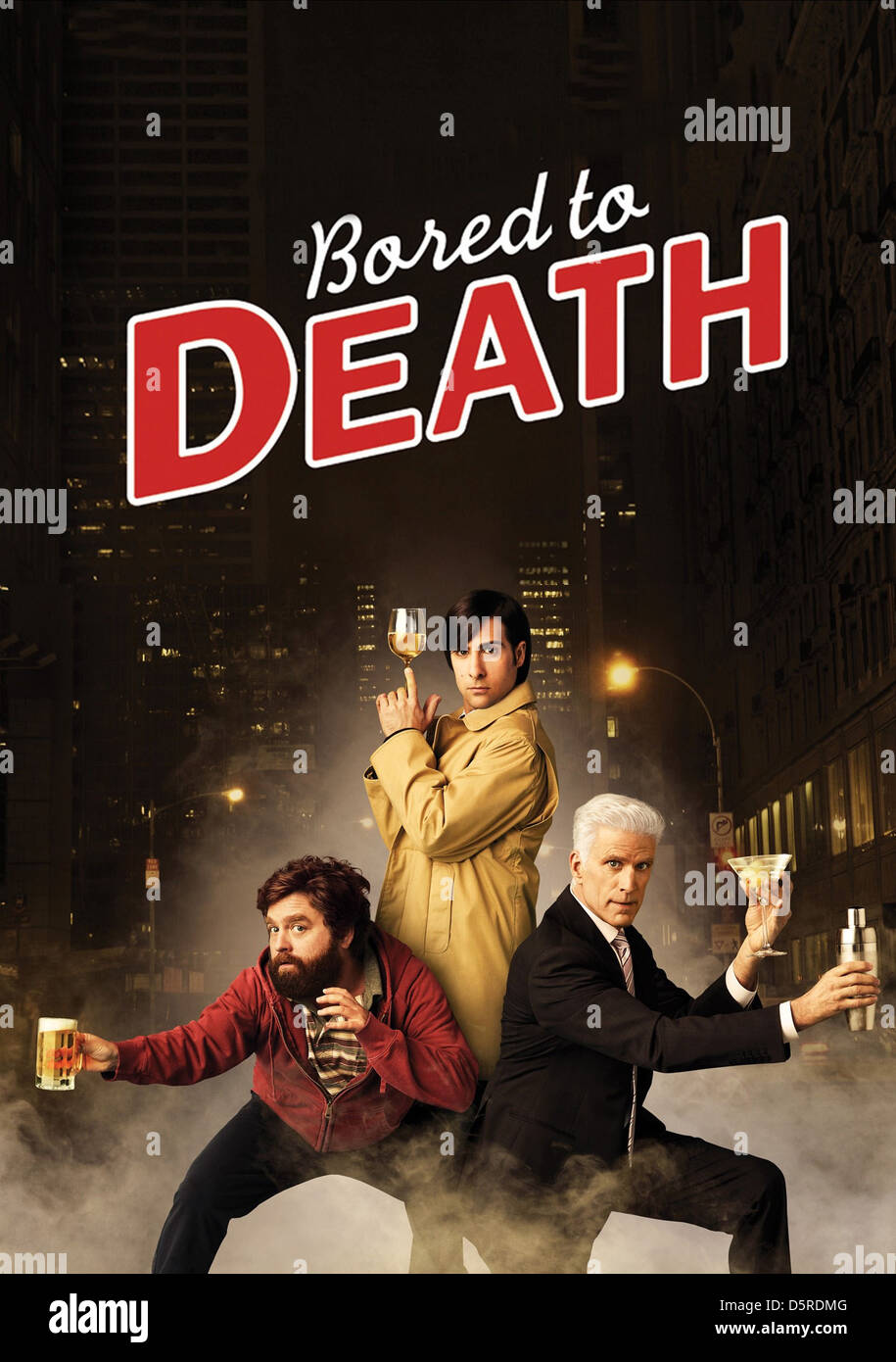 Zach Galifianakis Jason Schwartzman Ted Danson Poster Bored To Stock Photo Alamy