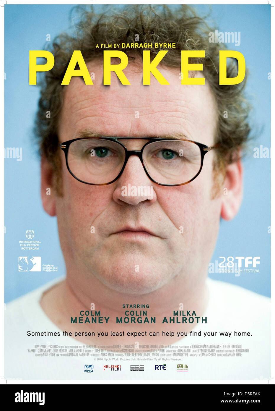 COLM MEANEY POSTER PARKED (2010) - Stock Image