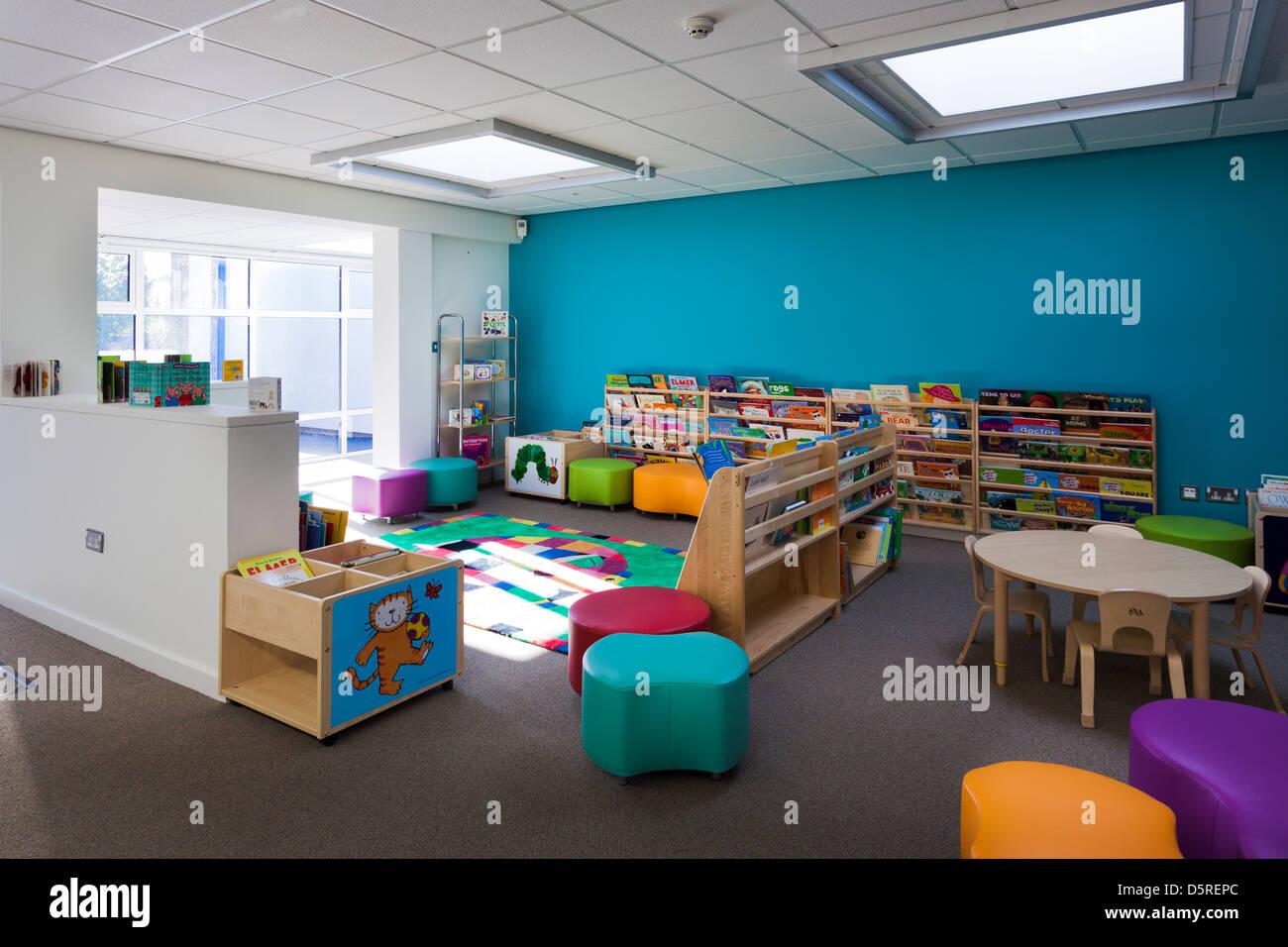 Whitley Park Nursery School infants classroom - Stock Image
