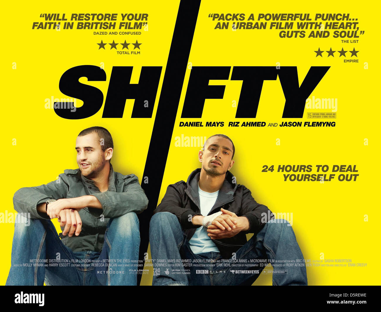 DANIEL MAYS & RIZ AHMED POSTER SHIFTY (2008) - Stock Image