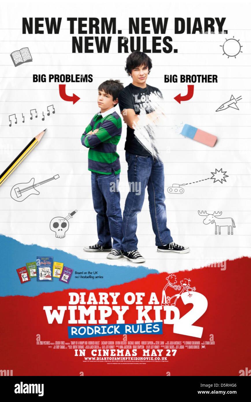 Zachary Gordon Devon Bostick Poster Diary Of A Wimpy Kid Rodrick Stock Photo Alamy
