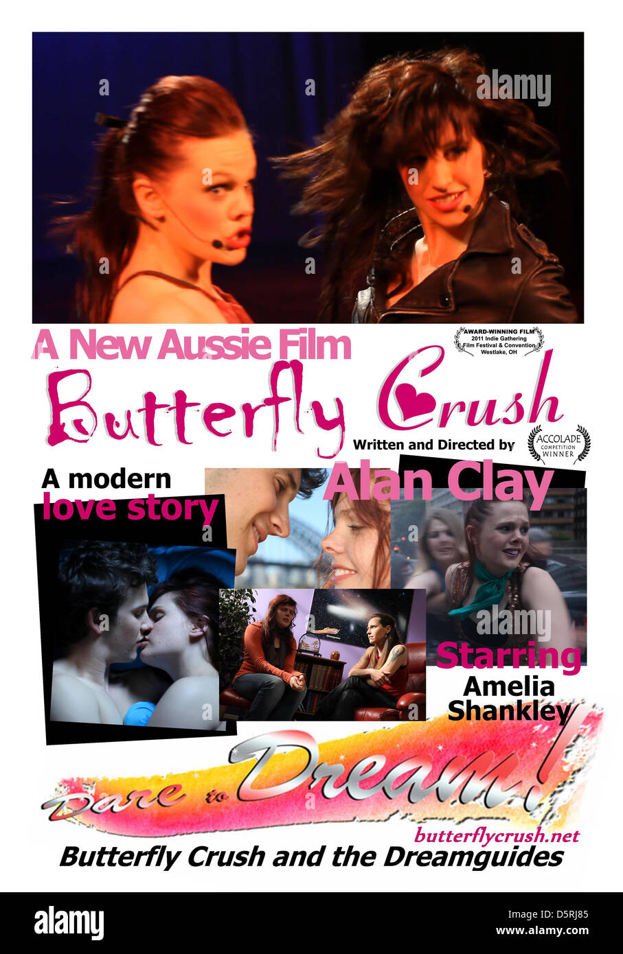 MOVIE POSTER BUTTERFLY CRUSH (2010) - Stock Image