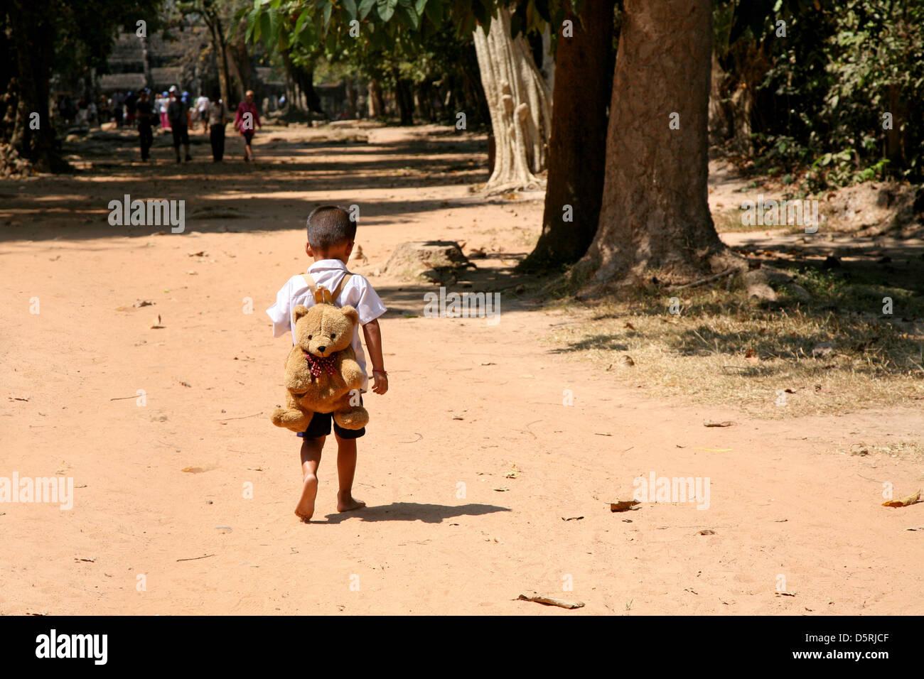 Boy in Cambodia - Stock Image