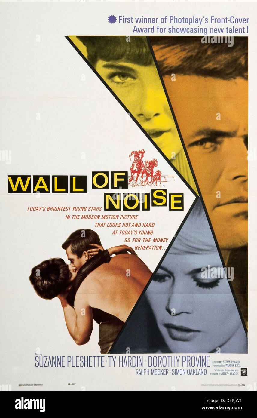 MOVIE POSTER WALL OF NOISE (1963) - Stock Image