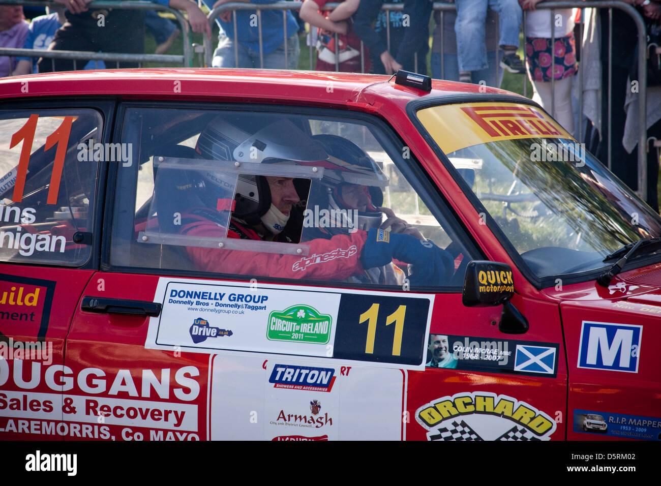 Circuit of Ireland Rally, Lisburn, Northern Ireland, Special Stage, Motor Sport - Stock Image