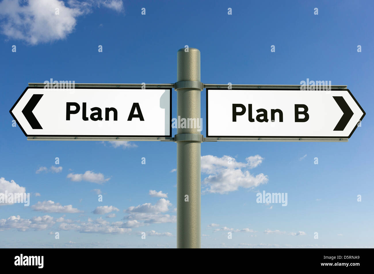 Change concept - Plan A or Plan B decision making choice concept sign - Stock Image