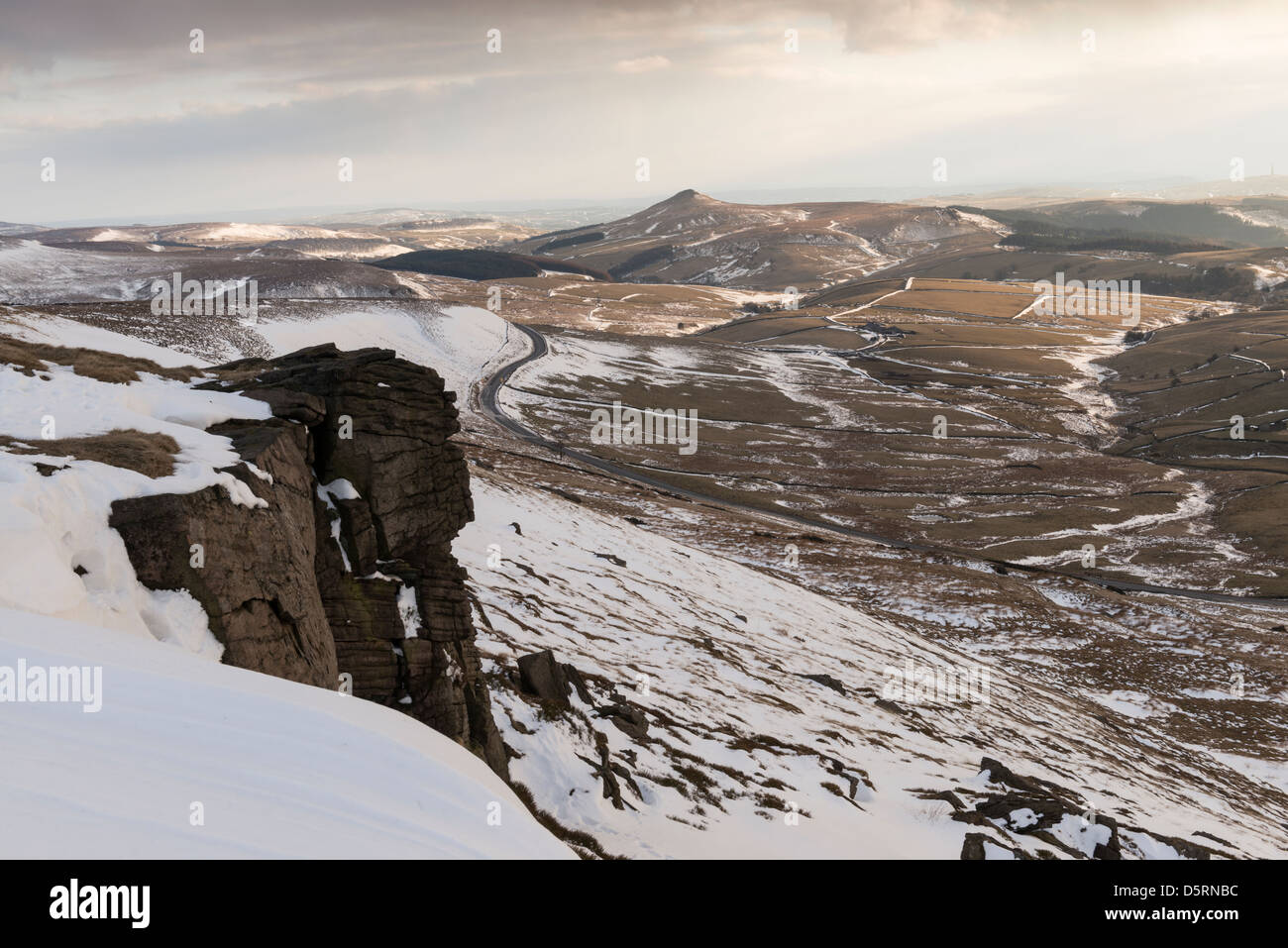 View from Shining Tor, The Peak District - Stock Image
