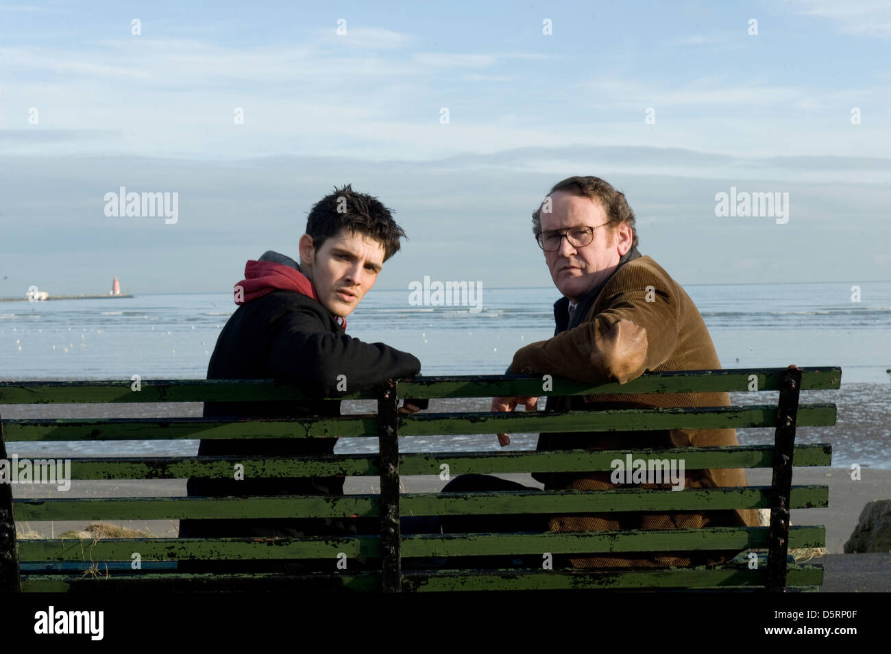 COLIN MORGAN & COLM MEANEY PARKED (2010) - Stock Image