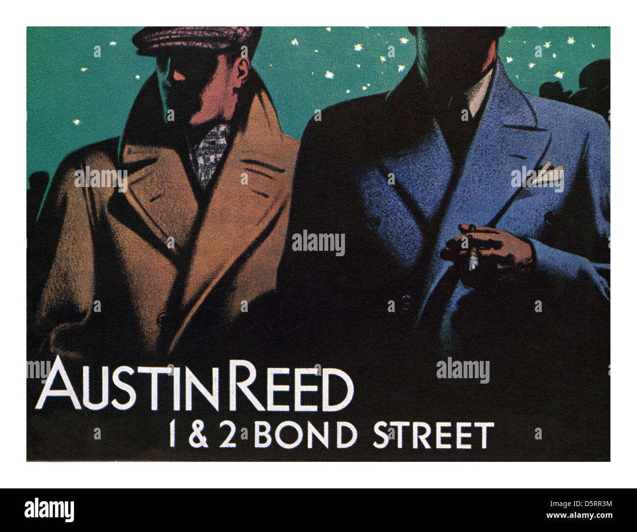 1930 S Mens Fashion Austin Reed Mens Outfitters Clothing Poster Stock Photo Alamy