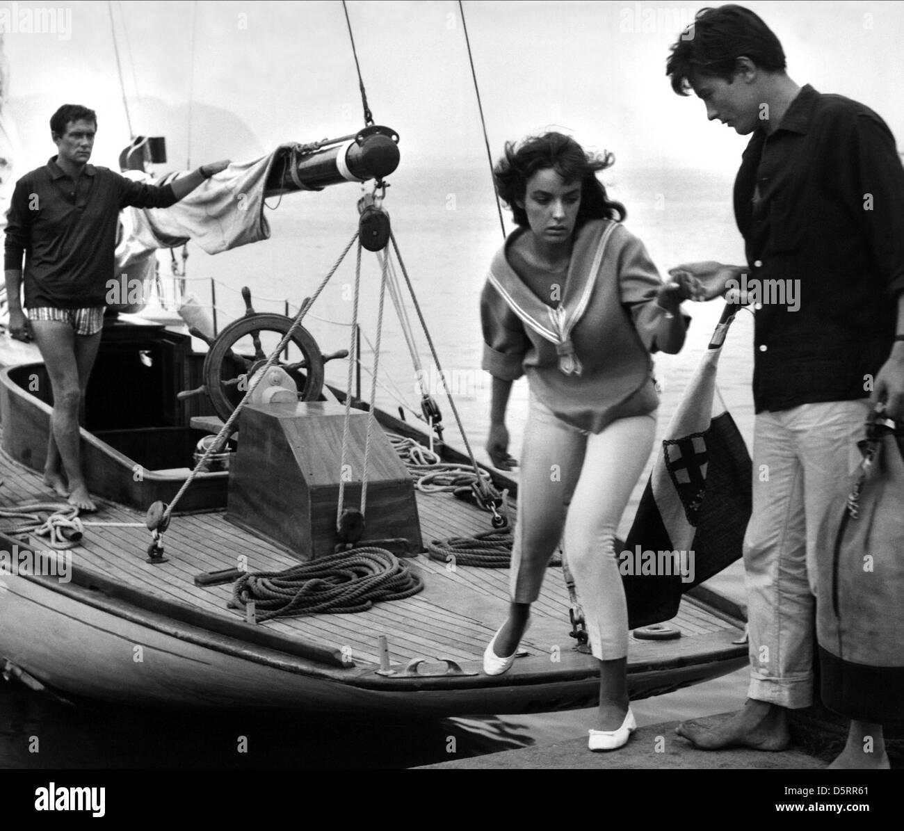 MAURICE RONET MARIE LAFORET & ALAIN DELON PLEIN SOLEIL (1960) - Stock Image