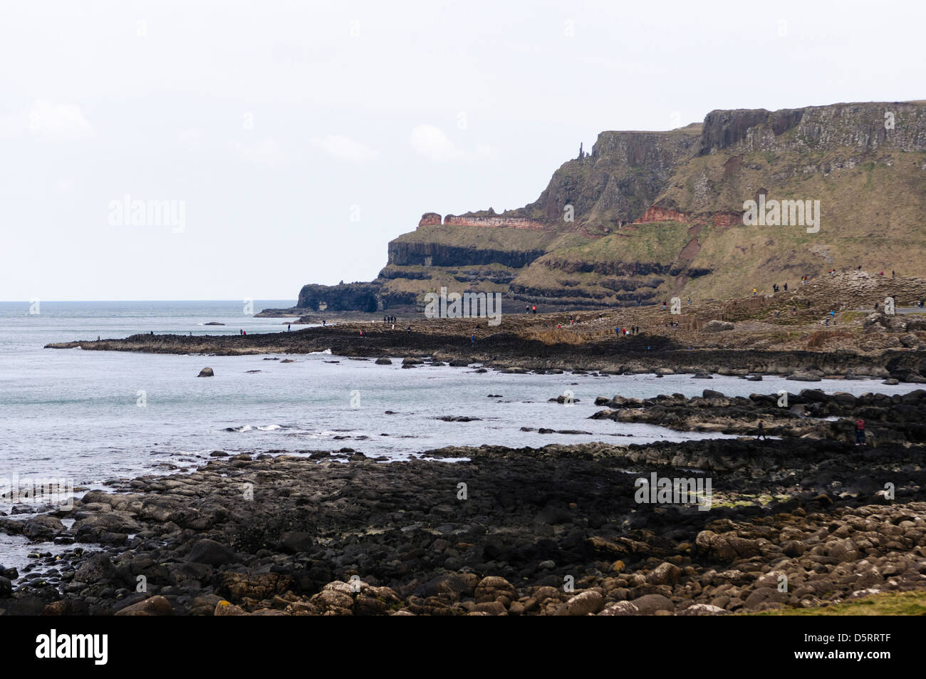 The Amphitheater at the Giant's Causeway - Stock Image