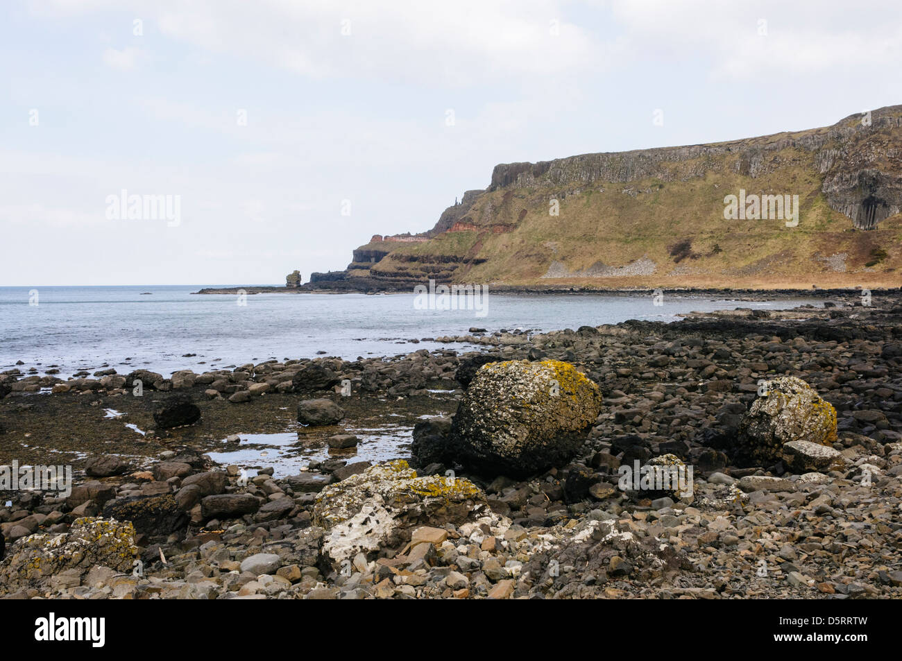 The Amphitheater at the Giant's Causeway Stock Photo