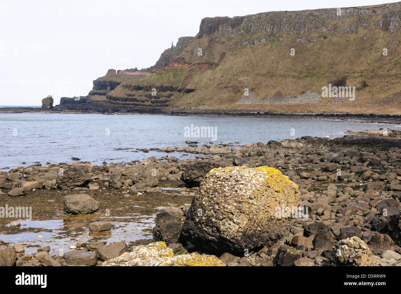 The Ampitheatre at the Giant's Causeway - Stock Image