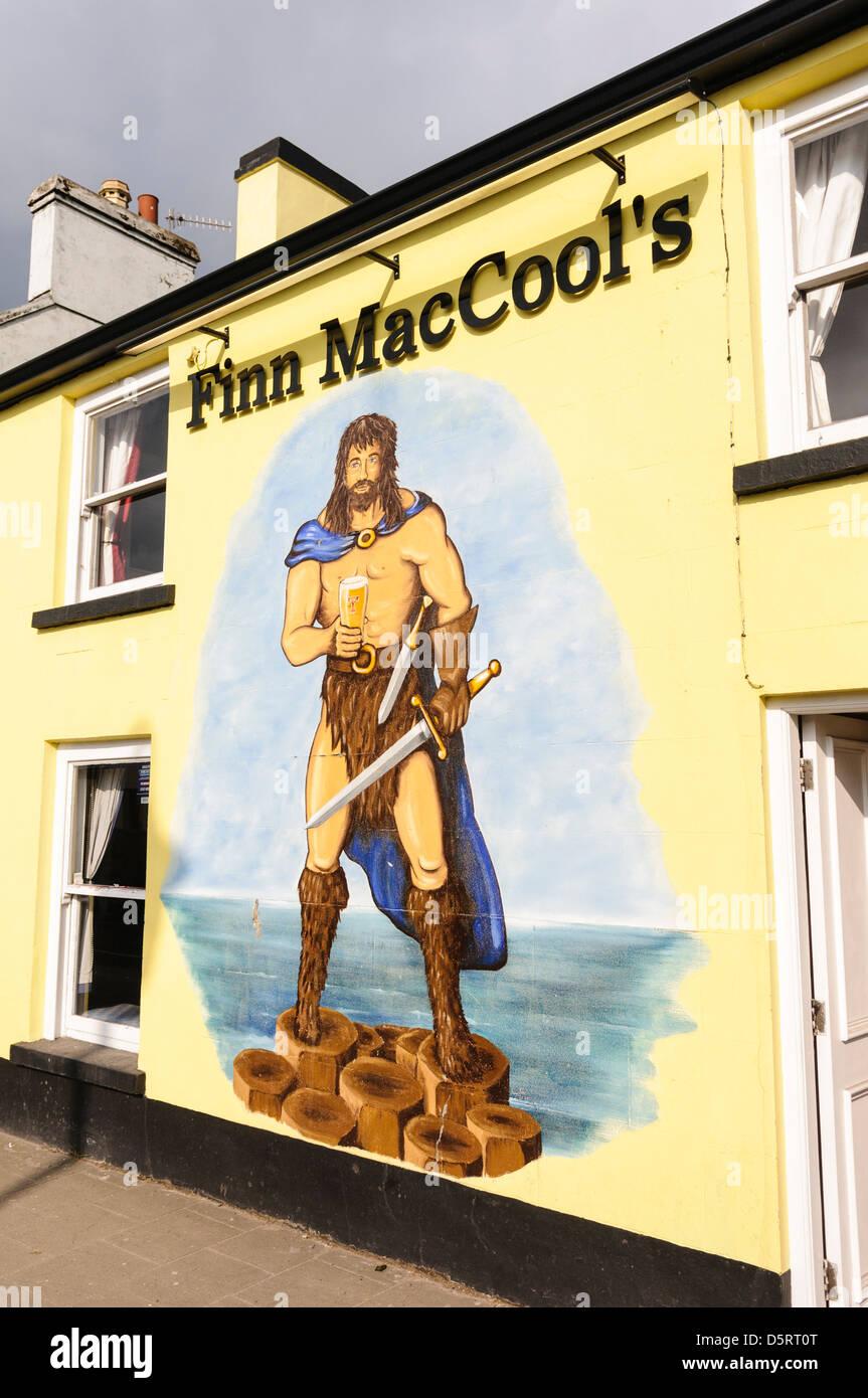 Finn McCool pub, Bushmills - Stock Image