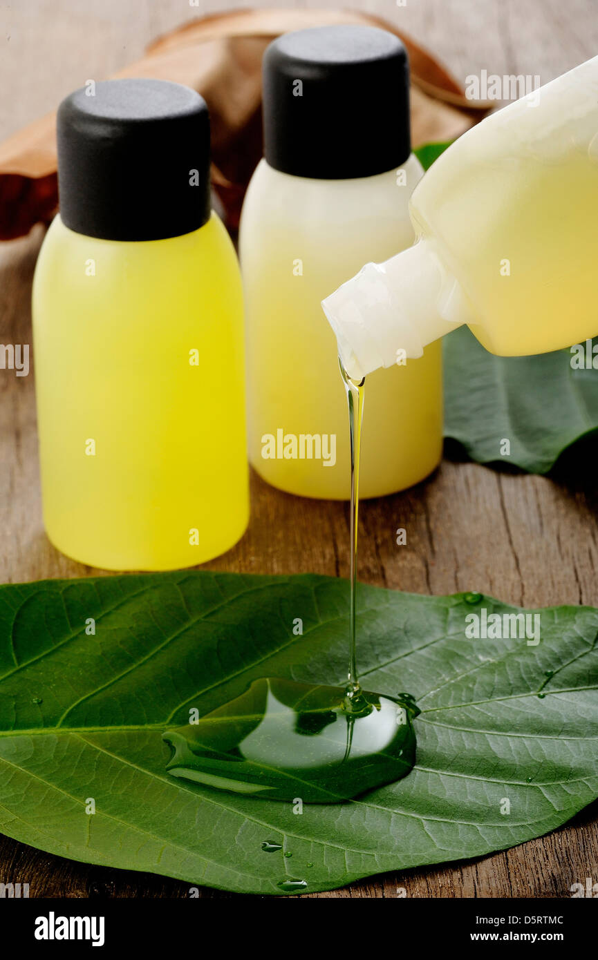 shampoo bottle - Stock Image