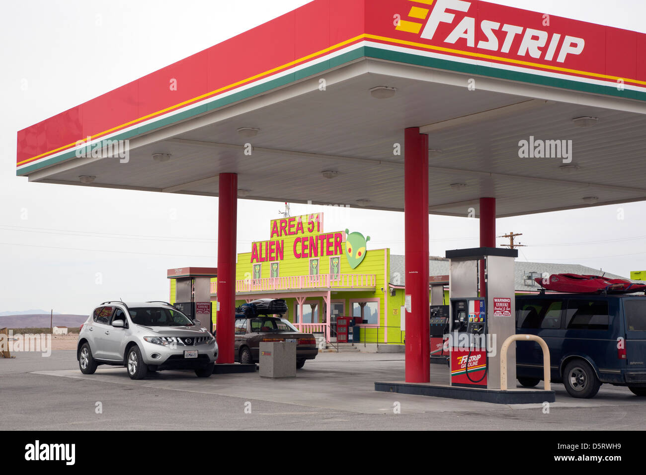 Amargosa Valley, Nevada - The Area 51 Alien Center at a gas station in the Nevada desert. Stock Photo