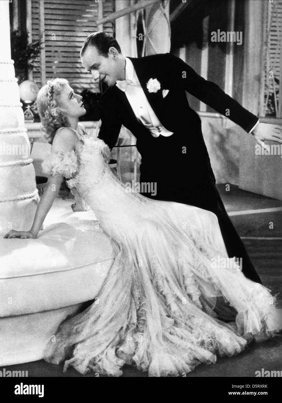 GINGER ROGERS, FRED ASTAIRE, TOP HAT, 1935 Stock Photo