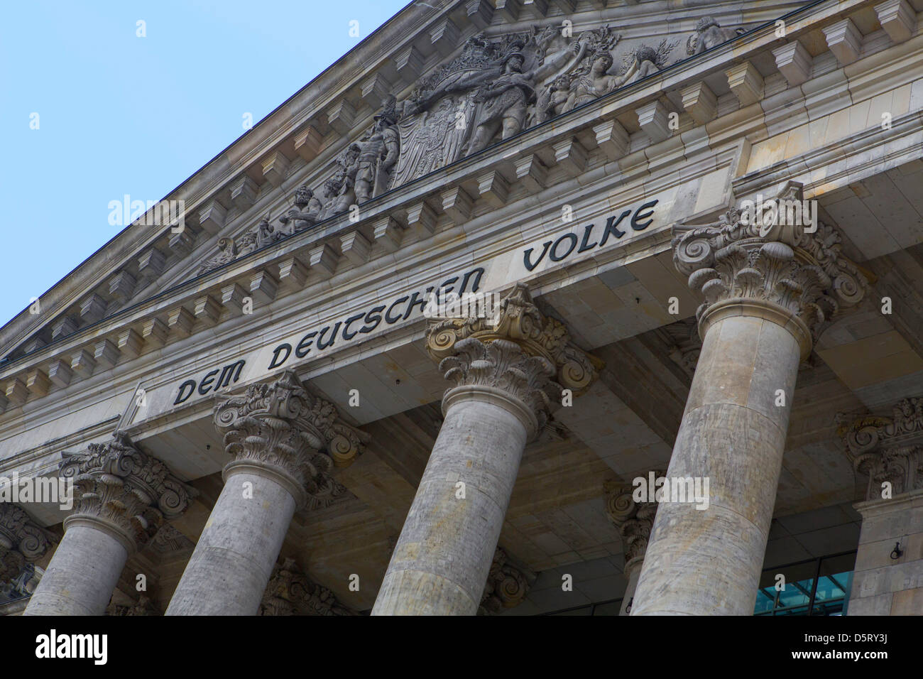 Reichstag north entrance - Stock Image