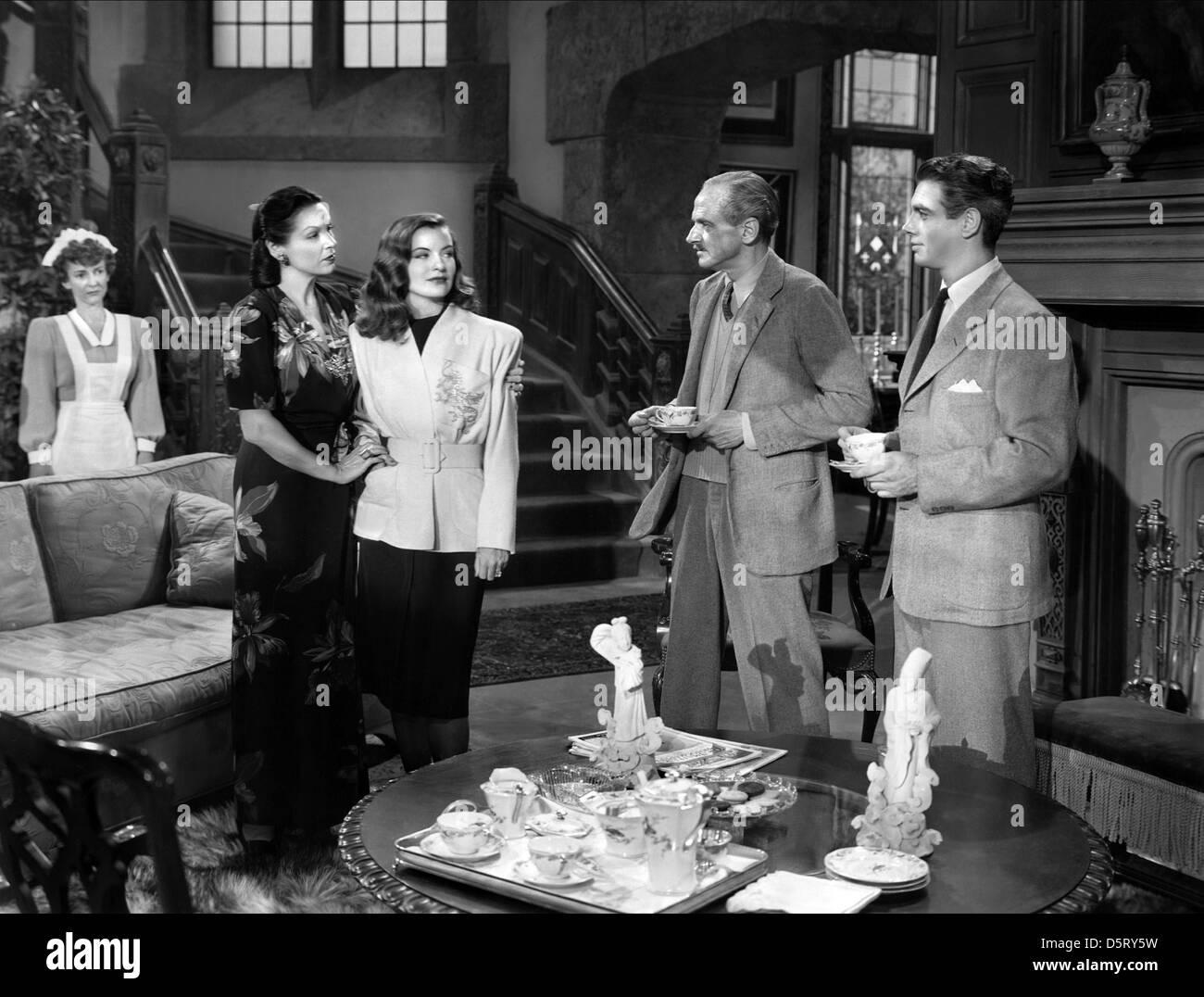 GALE SONDERGAARD, ELLA RAINES, MILES MANDER, CHARLES KORVIN, ENTER ARSENE LUPIN, 1944 Stock Photo