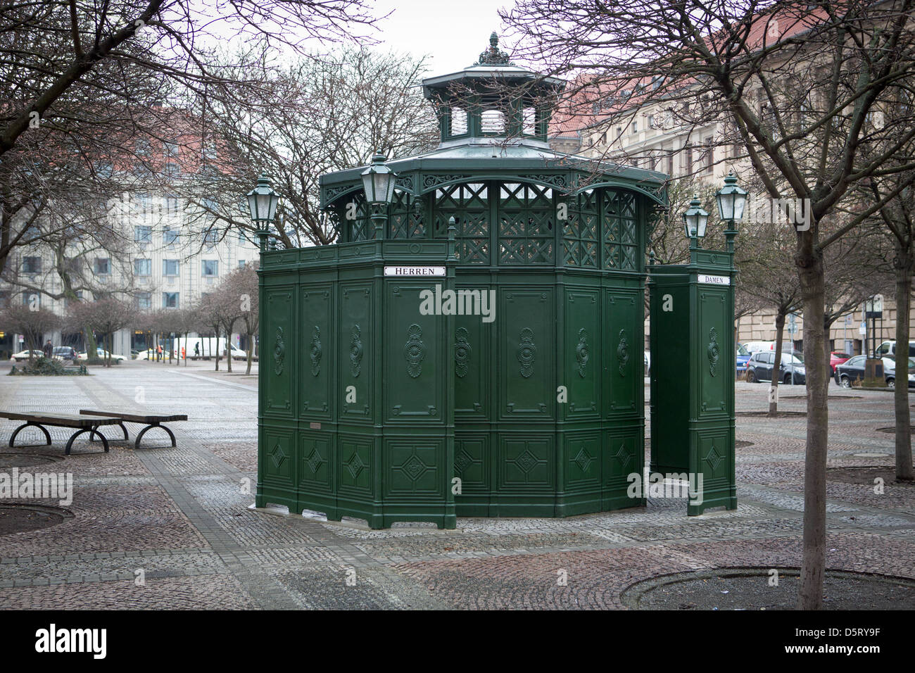 This old style public toilet has been completely renovated and contains modern facilities. - Stock Image
