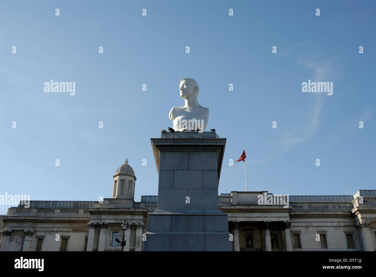 Alison Lapper Pregnant, statue on temporary display in Trafalgar Square, London, England, Britain, UK, - Stock Image