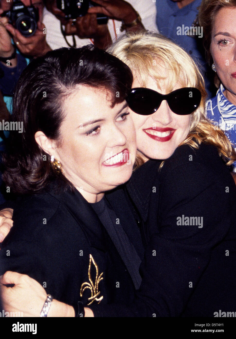 Rosie O'Donnell and Madonna Premiere of 'A League Of Their Own' at the Ziegfeld Theatre - Arrivals. - Stock Image
