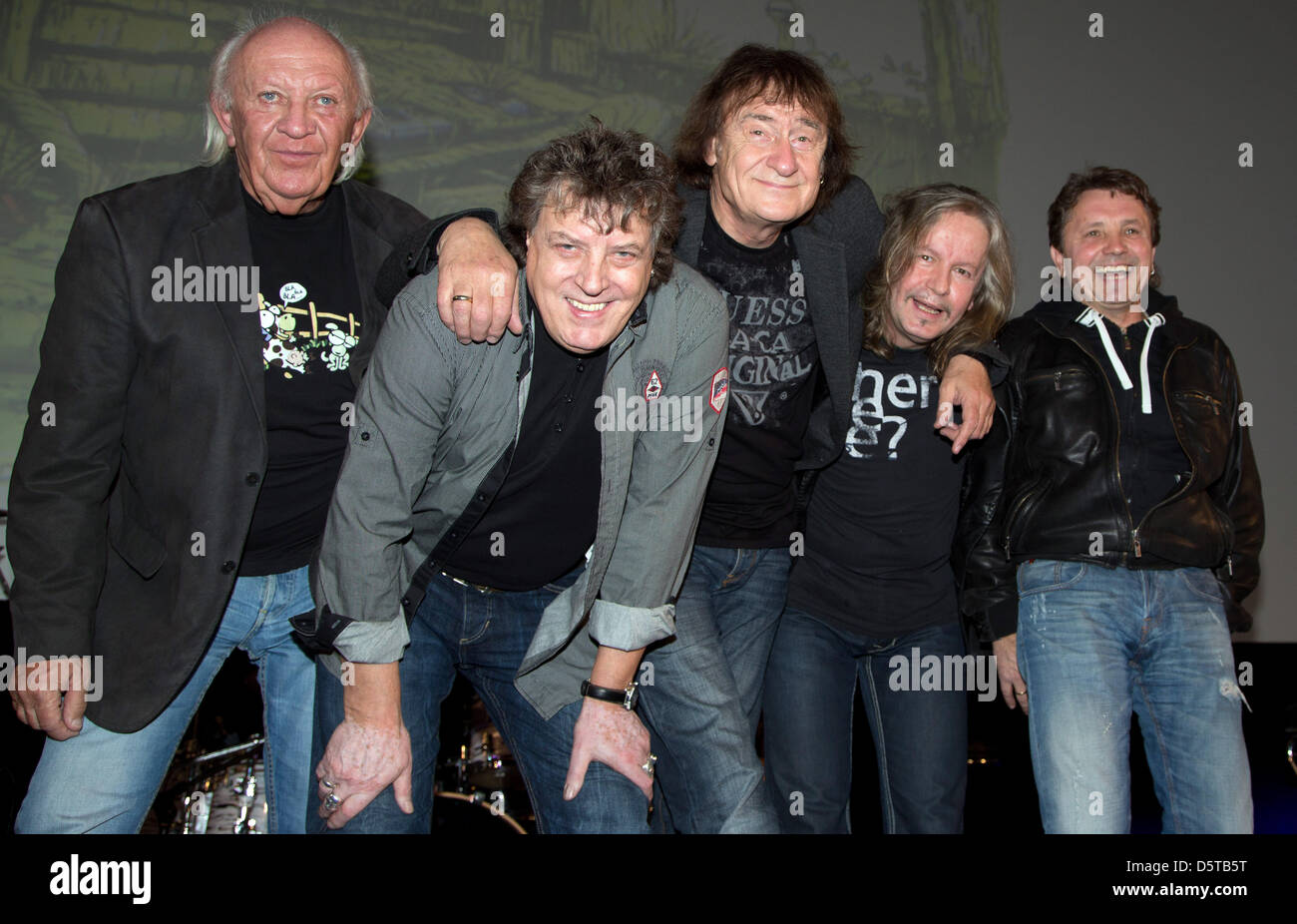 The German rock band Puhdys with Peter Meyer (L-R), Dieter