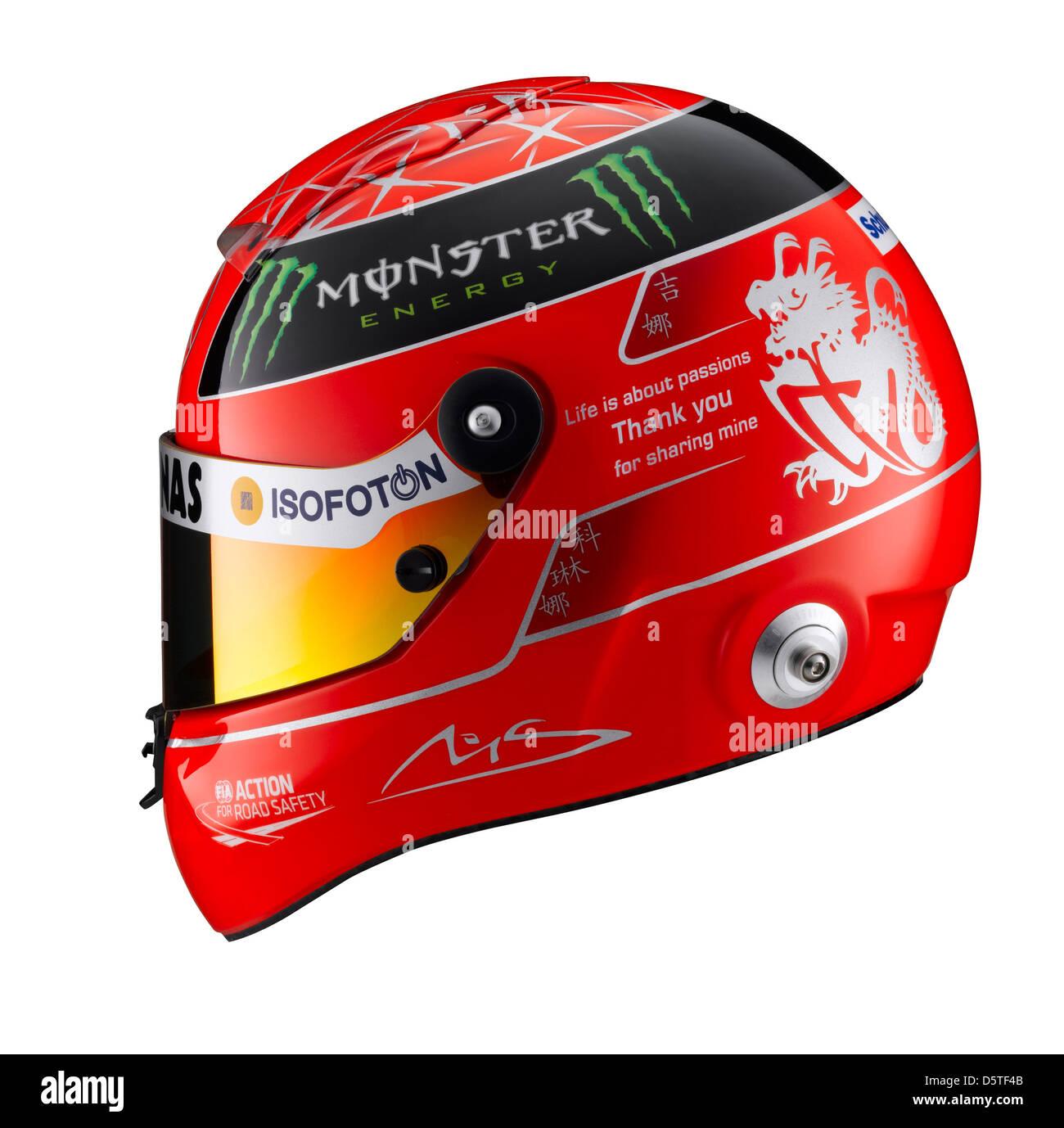 Handout A Handout Picture Shows The Helmet Racing Driver Michael Stock Photo Alamy