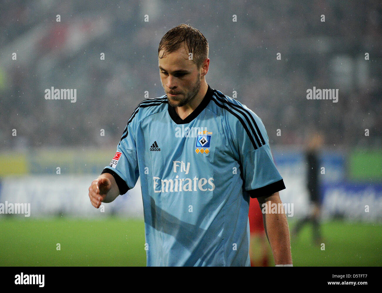 Hamburg's  Maximilian Beister gestures during the German Bundesliga soccer mathc between Fortuna Duesseldorf - Stock Image
