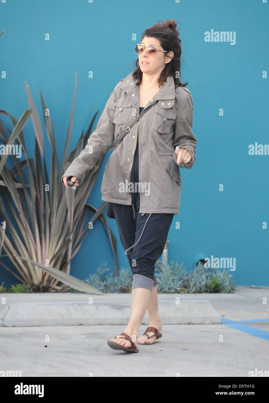 Marisa Tomei leaving Yoga class in West Hollywood Los Angeles, California - 13.03.12 Stock Photo