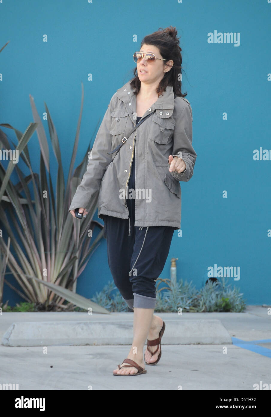 Marisa Tomei leaving Yoga class in West Hollywood Los Angeles, California - 13.03.12 - Stock Image