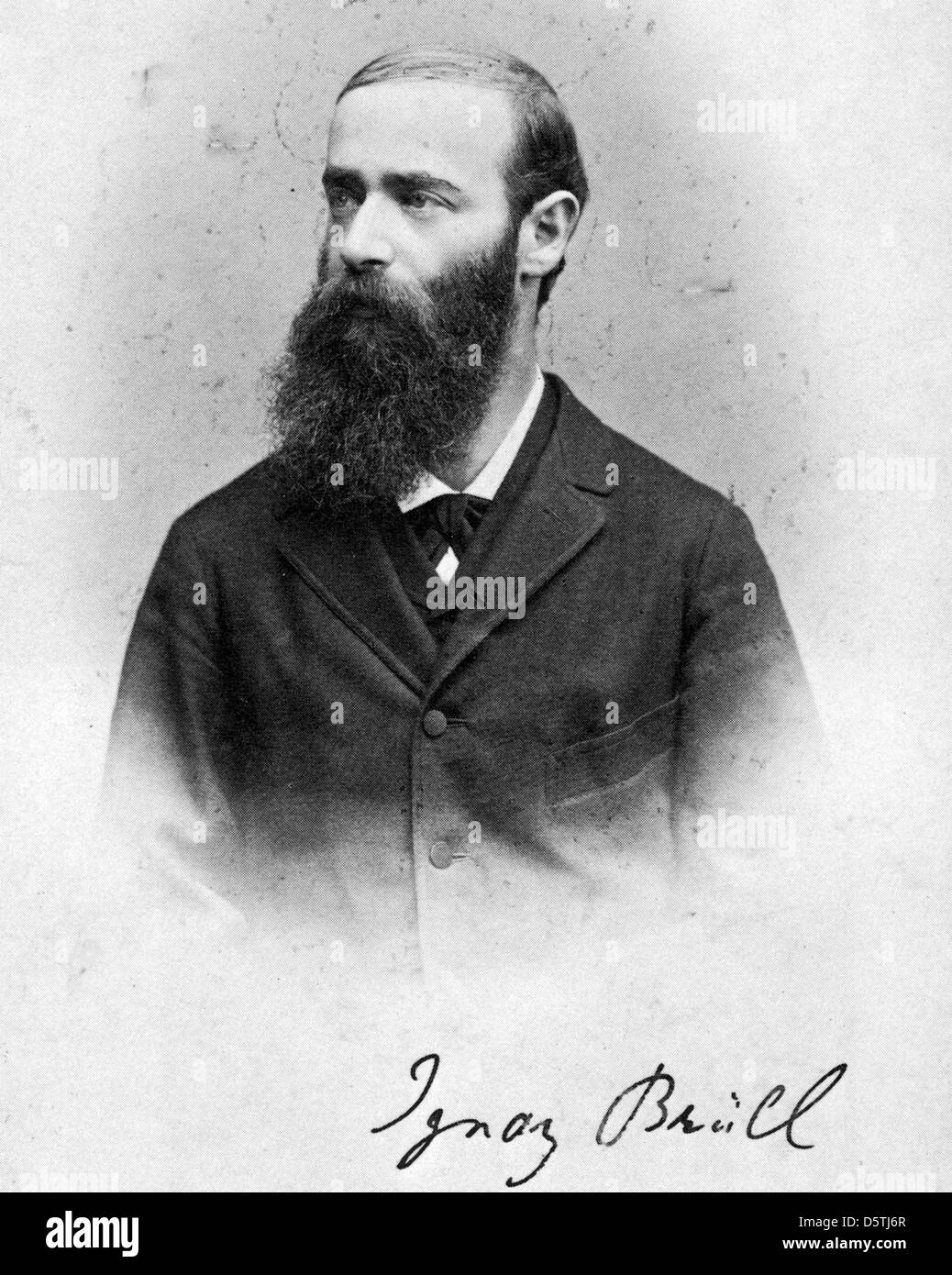 IGNAZ BRUHLL  (1846-1907) Moravian-born pianist and composer - Stock Image