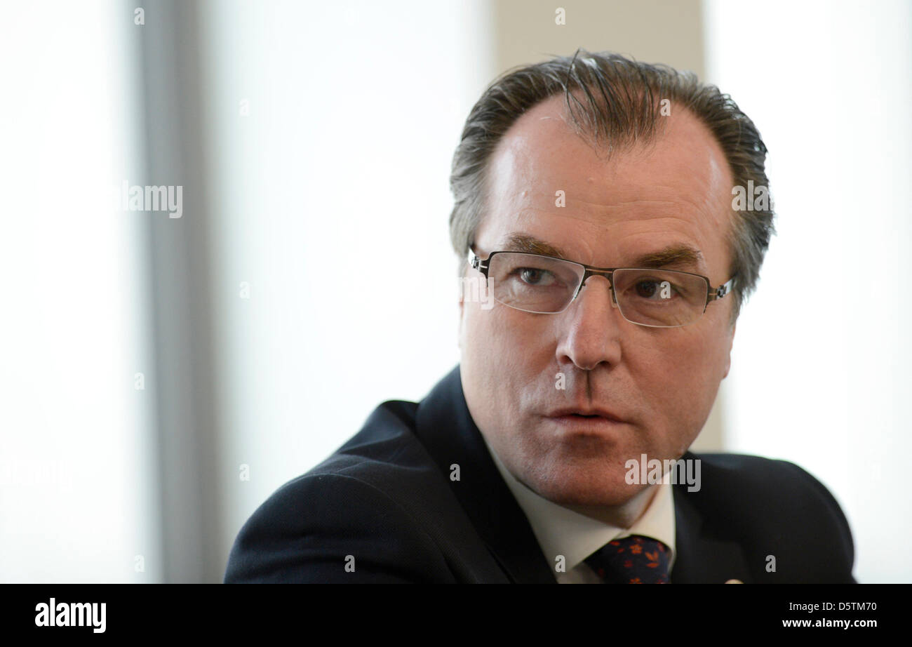 CEO of the meat producer Toennies, Clemens Toennies, speaks at a press conference in Rheda-Wiedenbrueck, Germany, - Stock Image