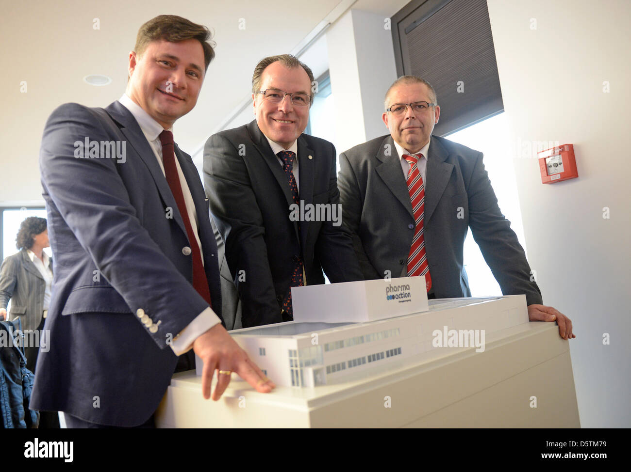 Erol Thomas Isim, CEO of Toennies subsidiary Pharma Action, chairman of the meat producer Toennies, Clemens Toennies, - Stock Image