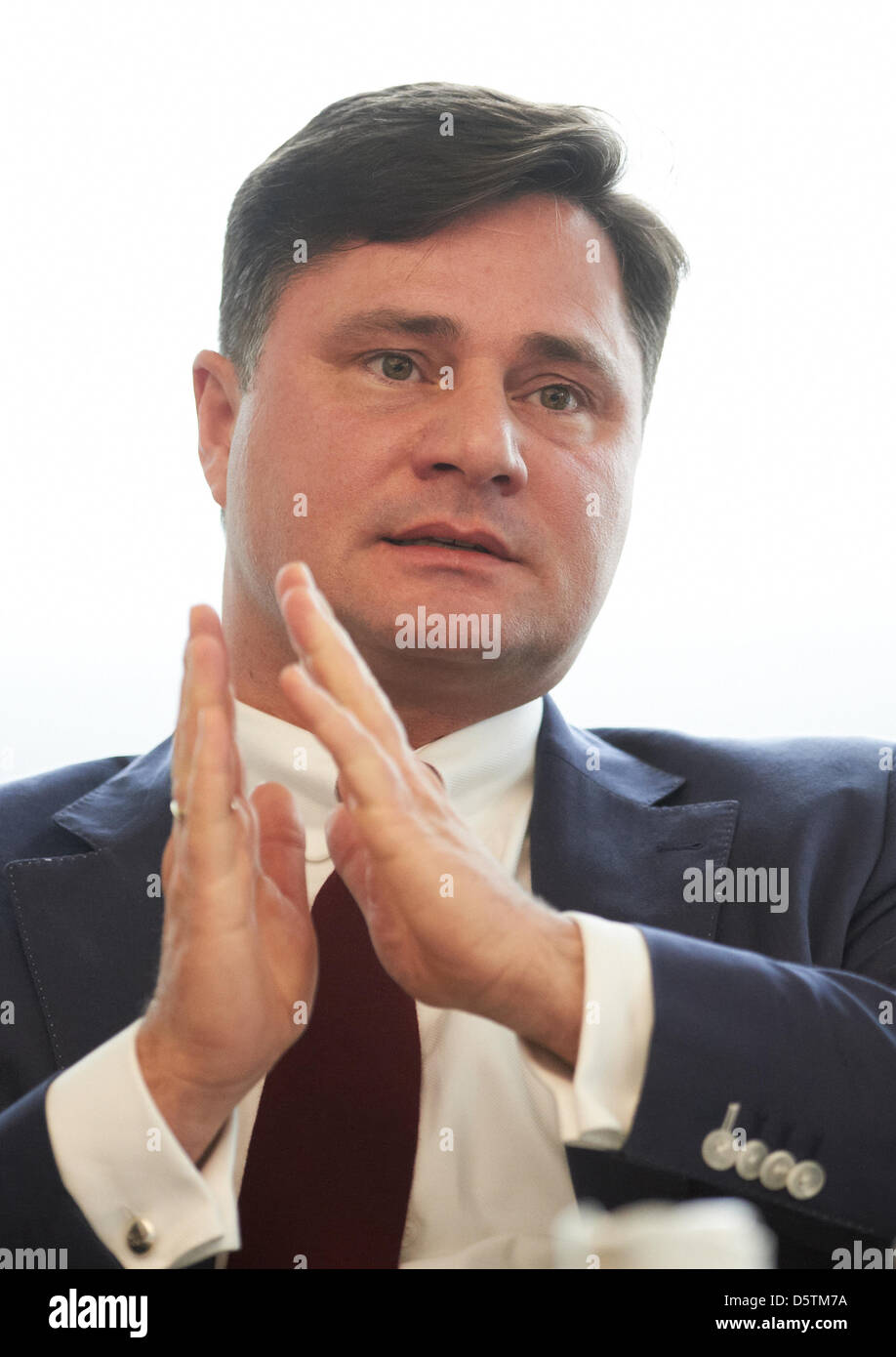 Erol Thomas Isim, CEO of Toennies subsidiary Pharma Action, is pictured during a press conference in Rheda-Wiedenbrueck, - Stock Image