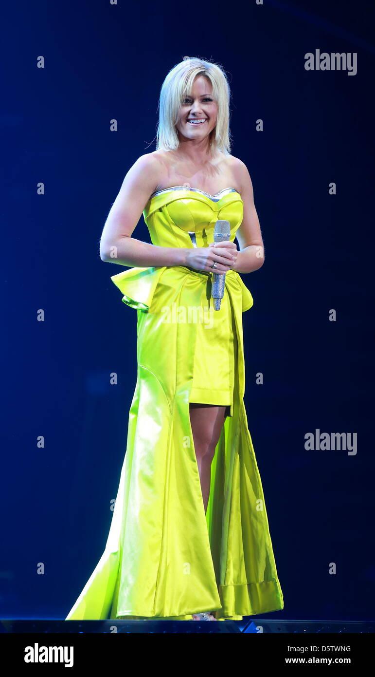 German singer Helene Fischer performs live at Getec-Arena in Magdeburg, Germany, 26 September 2012. Photo: Jens - Stock Image