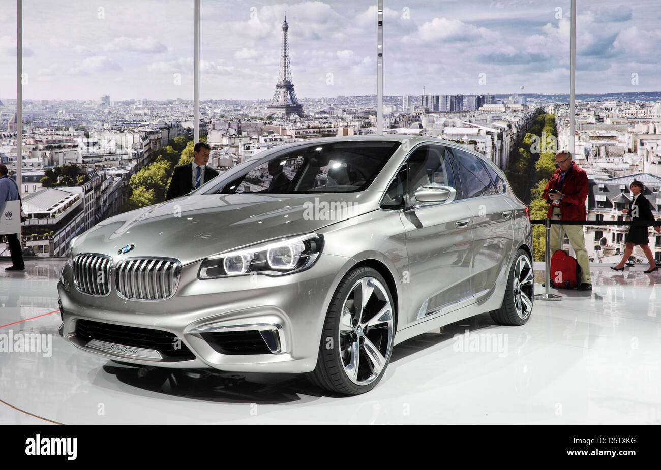 The BMW Concept Active Tourer is presented on the first press day of ...