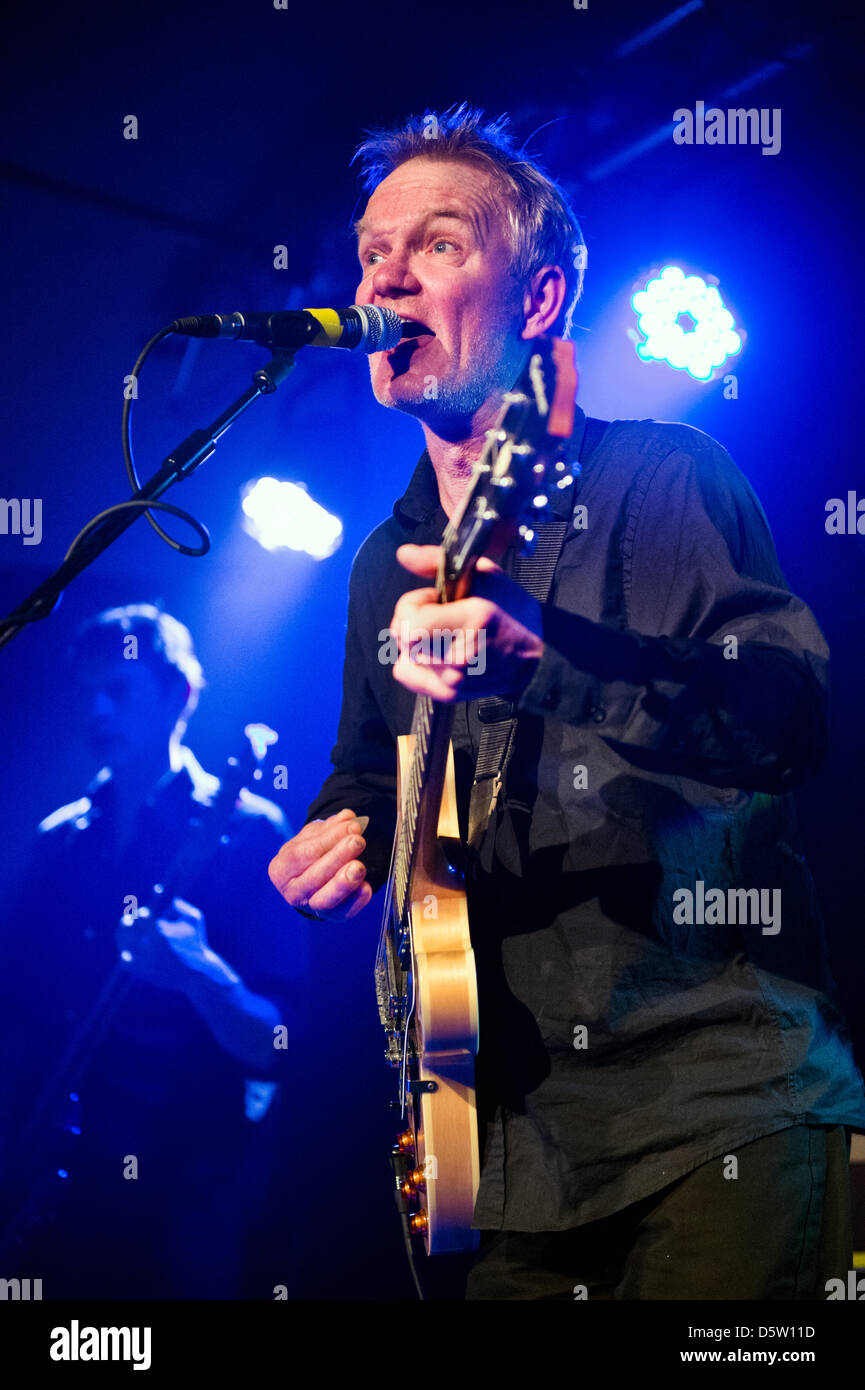 Manchester, UK. 8th April 2013. Reformed rock band The House of Love perform at Sound Control, Manchester on 8 April - Stock Image