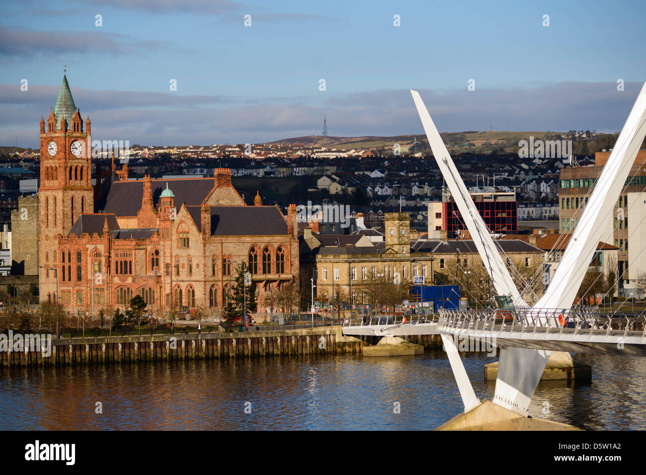 Derry City, Northern Ireland - Stock Image