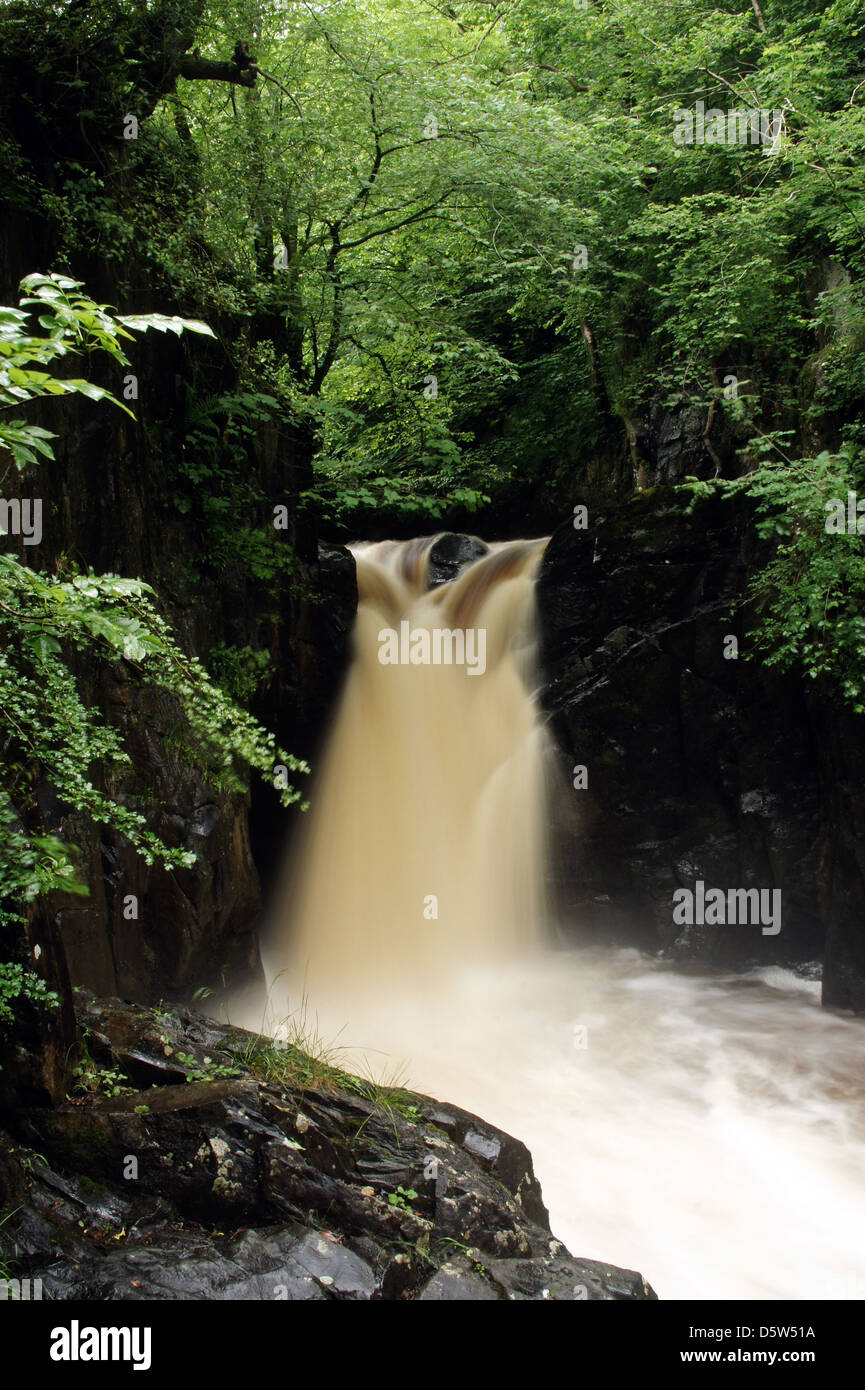 Waterfall in Ingleton - Stock Image