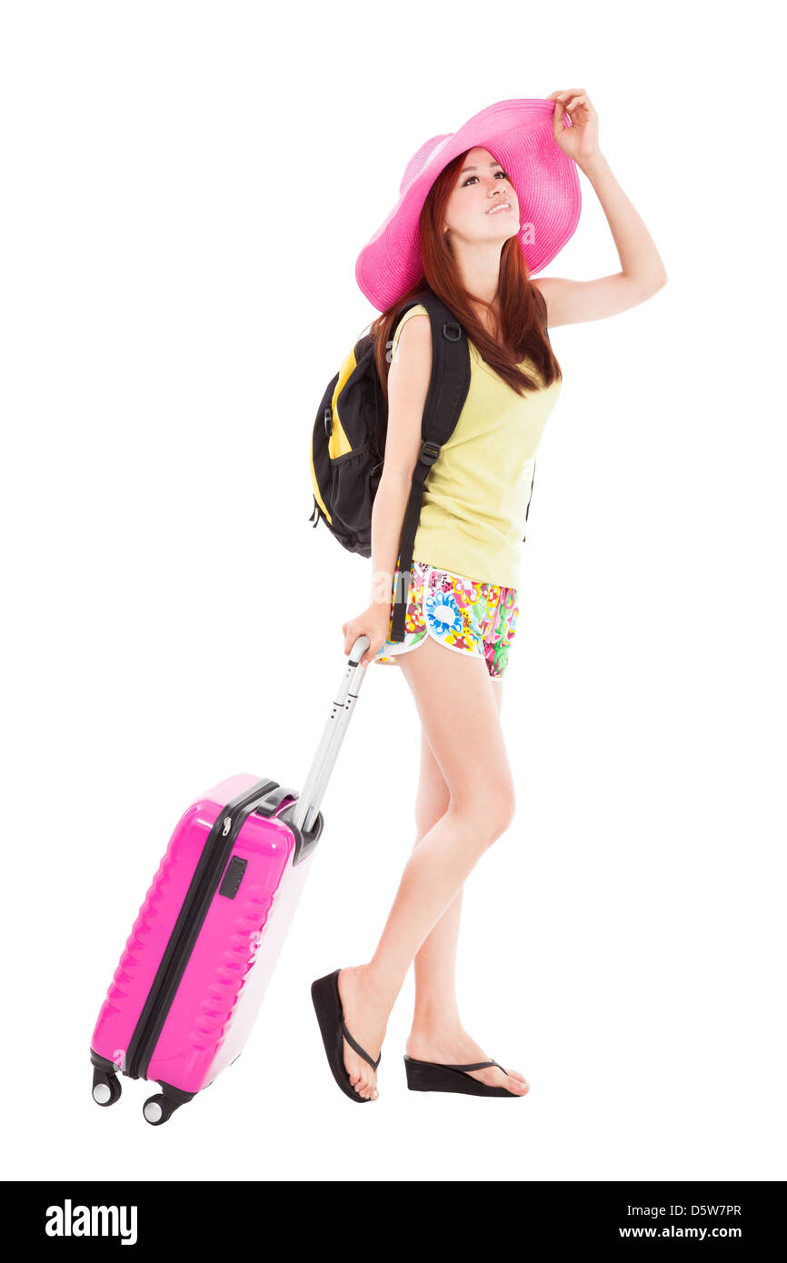 young woman enjoy summer vacation - Stock Image